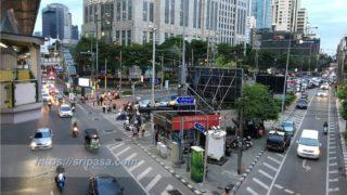 バンコク「アソーク」の交差点