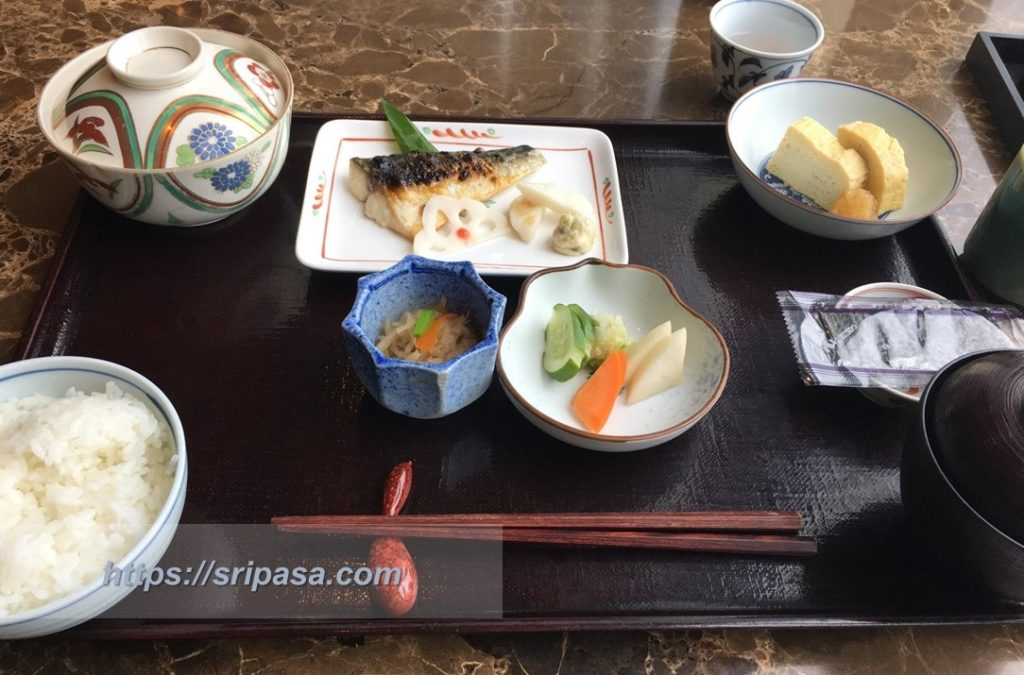 『The Okura Prestige Bangkok(オークラ・プレステージ・バンコク)』 日本食レストラン『山里』での朝食(鯖編)