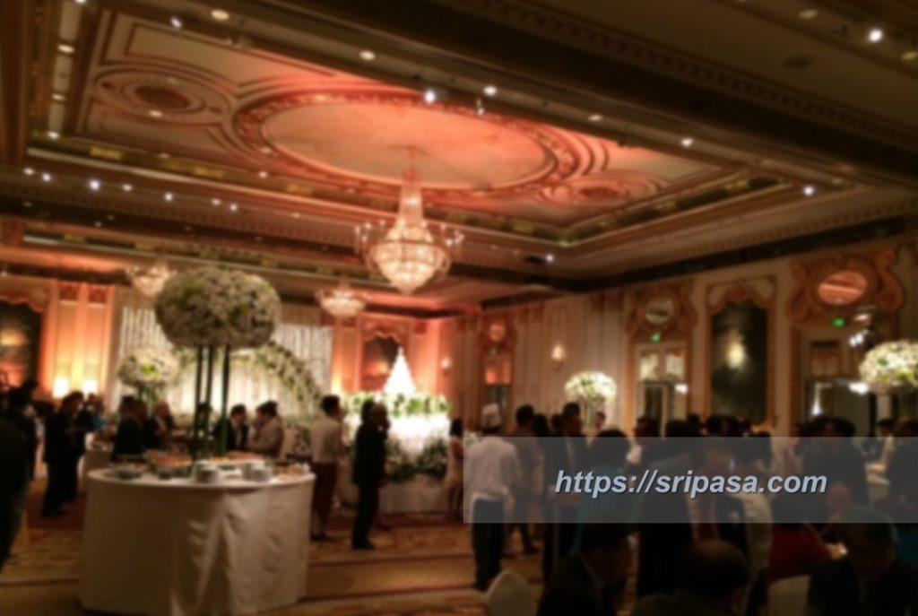 バンコクの結婚式の様子(マンダリン・オリエンタル・ホテル)