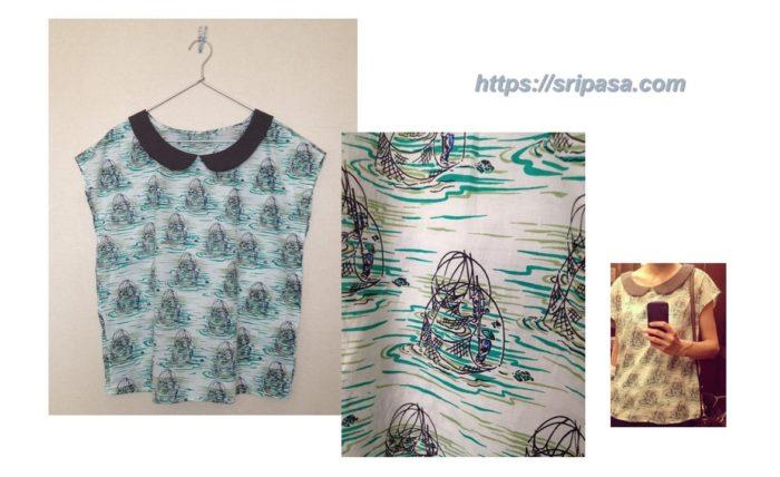 タイコットン「コマパット/Khomapastr」の布で作った洋服