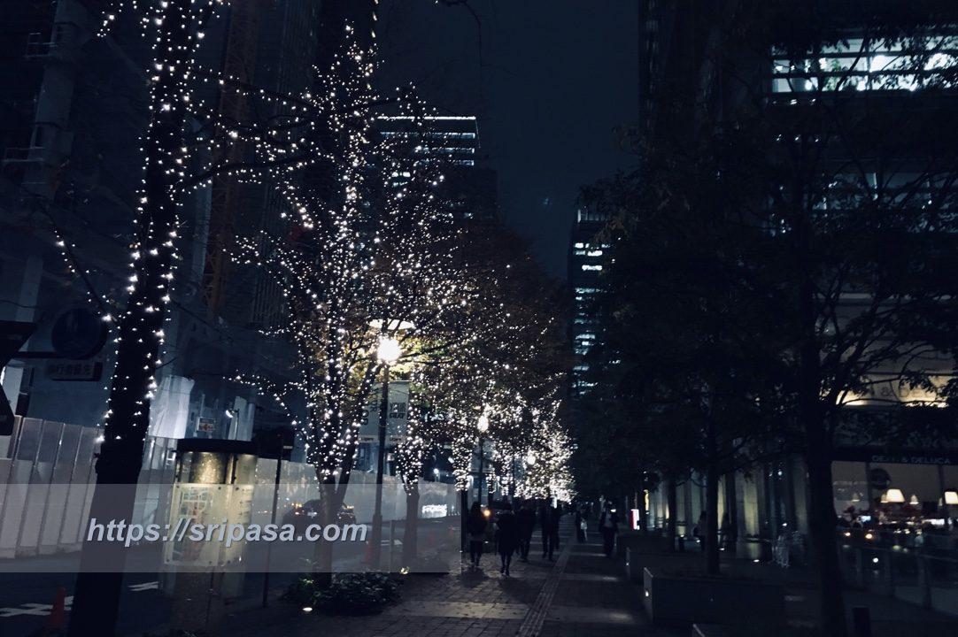 東京・丸の内のイルミネーション
