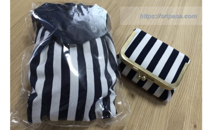 NaRaYa/ナラヤのボーダー柄の収納ケース(ポーチ)&シューズ袋