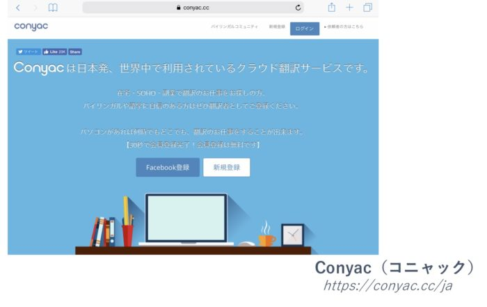 クラウド翻訳サービス「Conyac/コニャック」