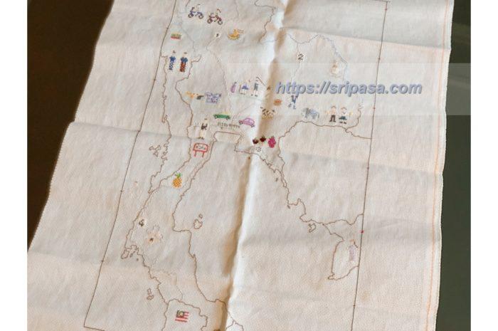 タイ地図刺繍 バンコク