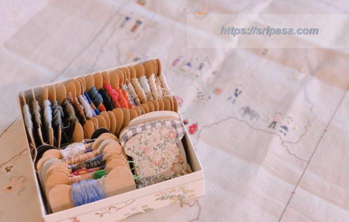 タイ地図刺繍 刺繍糸