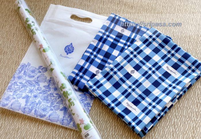 「コマパット/Khomapastr」で購入した布と包装紙