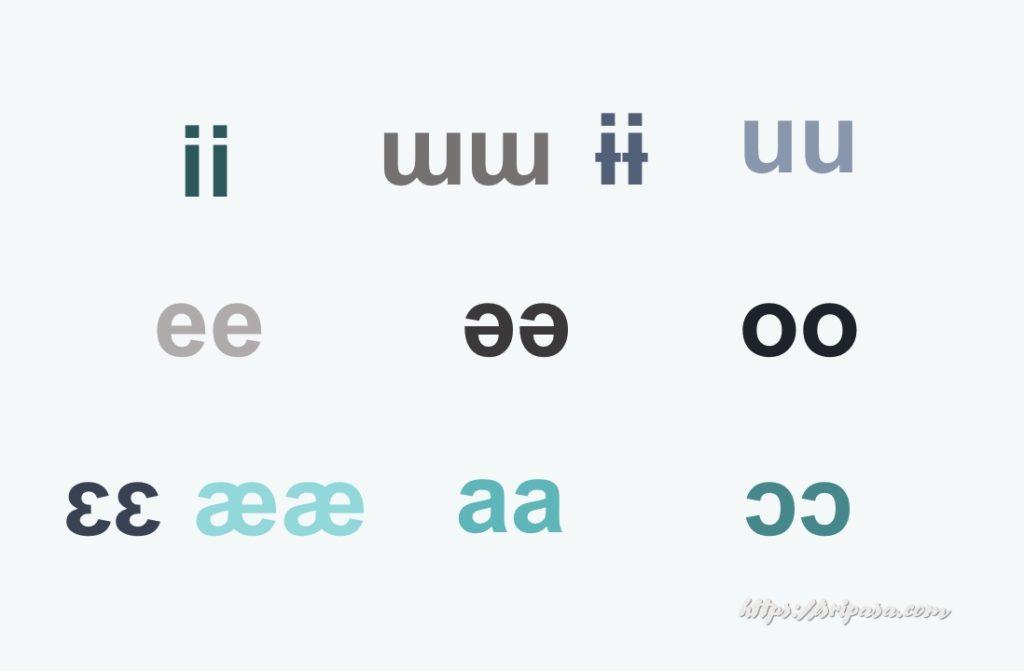 タイ語の長母音の発音記号