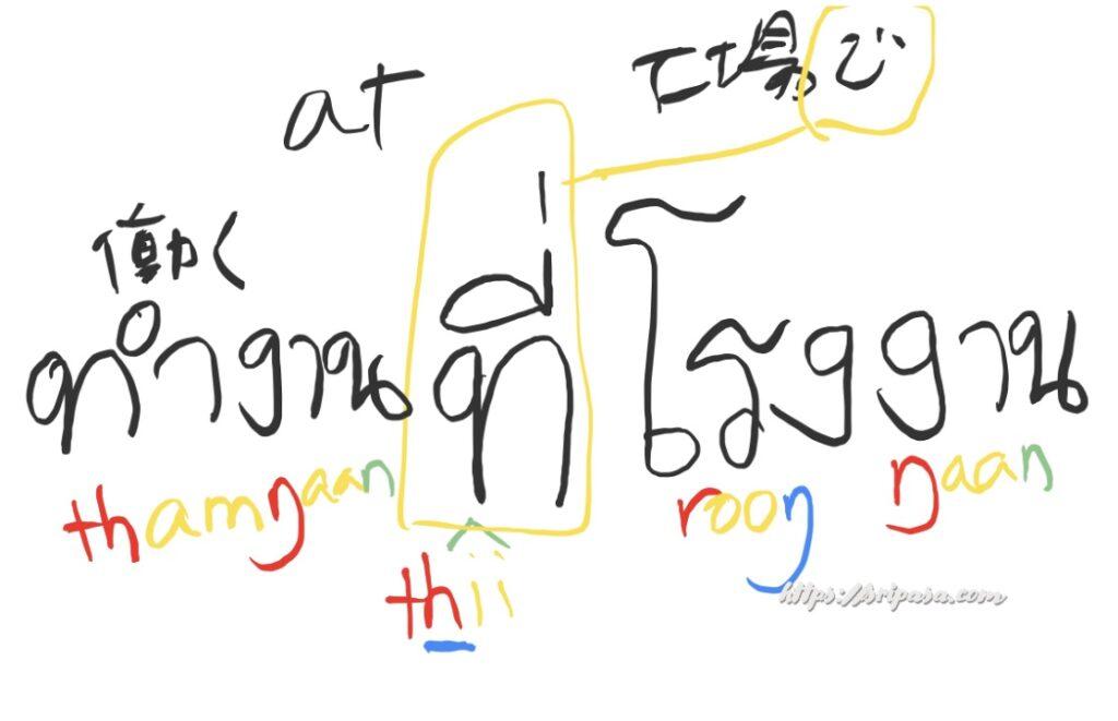 zoomのホワイトボードにアップルペンシルで書いたタイ文字