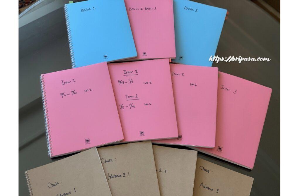 チュラロンコン大学「Intensive Thai」で作成したノート