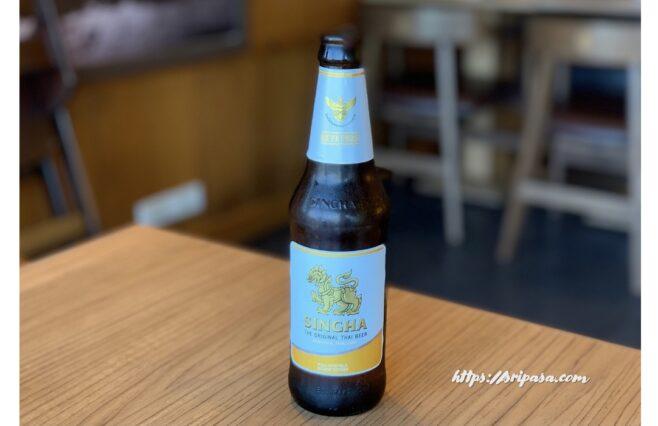 タイのシンハービール(タイ語ではビアシン)
